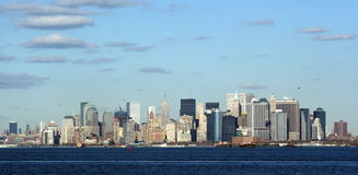New York. The view of Manhattan from the New York bay Royalty Free Stock Images