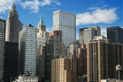 New york_2. Panoramic view of Manhattan, New York Royalty Free Stock Image