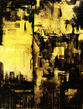 New York cityscape painting on canvas Royalty Free Stock Images