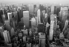 New york_3. Panoramic view of Manhattan, New York (black and white Stock Photos