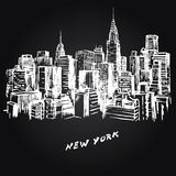 New York illustration stock
