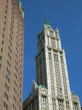New York. Architecture in Lower Manhattan including the Woolworth Building Stock Images