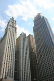 New York. Lower Manhattan architecture including the Woolworth Building Stock Photos