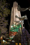 New York ,. New York city Rockefeller Plaza , Christmas royalty free stock photography