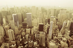 New York. City buildings bird's eye view Stock Photo