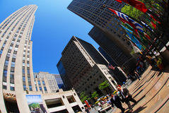 New York. City - Rockefeller Plaza Stock Image