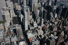New York from above. A photo of the New York centre from the Empire State Building royalty free stock image