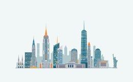 New York abstract skyline Stock Photos
