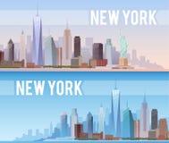 New York Abstrakte Formen stock abbildung