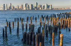 New York Across the Hudson River. View from Jersey Side. Royalty Free Stock Image