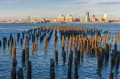 New York Across the Hudson River. View from Jersey Side. Stock Images