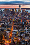 New York aerial cityscape Stock Photography