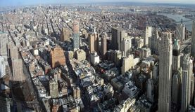 New York aerial image. Aerial image of Manhattan in New York, USA royalty free stock image