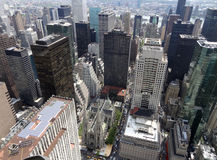 New York aerial view royalty free stock image