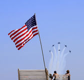 New York  Air Show at Jones Beach Stock Photography