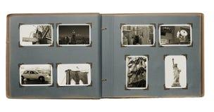 New York album Arkivbild