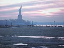 New York all'alba Fotografia Stock Libera da Diritti