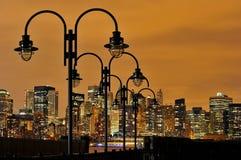 New York alla notte Fotografie Stock Libere da Diritti