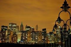 New York alla notte Fotografie Stock