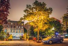 New York alla notte, Brooklyn Fotografia Stock Libera da Diritti