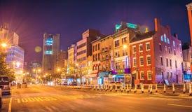 New York alla notte, Chinatown Immagine Stock Libera da Diritti
