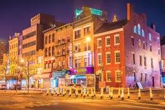 New York alla notte, Chinatown Fotografie Stock Libere da Diritti