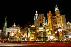 New York - New York alla notte Las Vegas U.S.A. Fotografia Stock Libera da Diritti