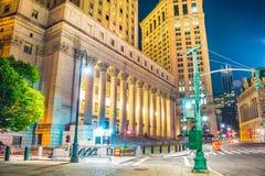 New York alla notte, Manhattan Fotografia Stock Libera da Diritti