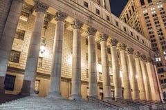 New York alla notte, Manhattan Immagine Stock Libera da Diritti