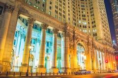 New York alla notte, Manhattan Immagini Stock Libere da Diritti