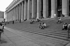 New York allmän stolpe - kontor Arkivbild