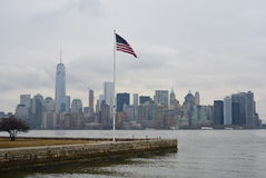 New York American flag on Staten Island Royalty Free Stock Photos