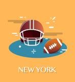 New York American Football.Vactor Illustration. royalty free illustration