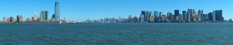 New York And Jersey Panorama Royalty Free Stock Photo