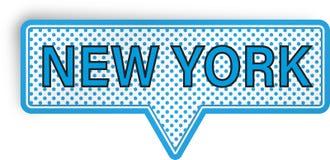 New York anförandebubbla som isoleras på vit Fotografering för Bildbyråer