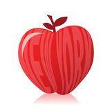 New york apple illustration Royalty Free Stock Photography