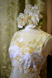 NEW YORK - APRIL 22: A Bridal dress on mannequin for Claire Pettibone bridal presentation Stock Photos