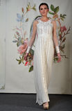 NEW YORK - APRIL 22: A model poses for Claire Pettibone bridal presentation Royalty Free Stock Images