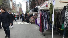 Sunday street fair at NYC stock video footage