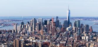New York - April of 2015, USA:  Aerial view of Manhattan skyline Royalty Free Stock Images