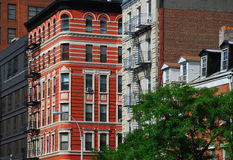 New York architecture, Chelsea. Historical buildings in midtown Manhattan. New York, NY, USA stock photos
