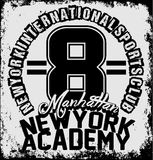 New york athletic sport training typography, t-shirt graphics, v Royalty Free Stock Photos