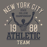 New York Athletic Team Royalty Free Stock Photos