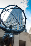 New York atlas. August 2014, New York, Atlas statue in Rockfeller center Stock Photo