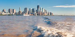 New York auf dem Horizont Stockbild