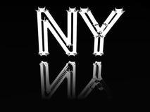 New York auf Glas. vektor abbildung