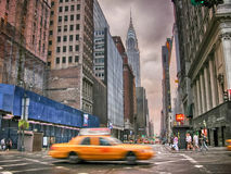 NEW YORK - AUG 2: Chrysler building facade Royalty Free Stock Photo