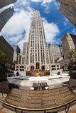 NEW YORK - AUGUST 23, 2015. ​​NEW YORK - AUGUST 23: Exterior views of to the Rockefeller center in Midtown Manhattan at the 5th Av on August 23, 2015 Royalty Free Stock Photo