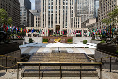 NEW YORK - AUGUST 23, 2015. ​​NEW YORK - AUGUST 23: Exterior views of to the Rockefeller center in Midtown Manhattan at the 5th Av on August 23, 2015 Royalty Free Stock Images