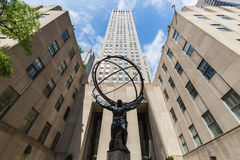 NEW YORK - AUGUST 24, 2015. ​​NEW YORK - AUGUST 23: Exterior views of to the Rockefeller center in Midtown Manhattan at the 5th Av on August 23, 2015 Stock Photography